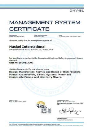 Management system certificate 2