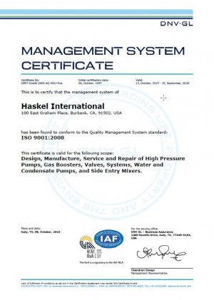 Management system certificate 3